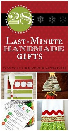 Need some inspiration for Last Minute Handmade Gifts? You'll find a gift idea for anybody on your list!