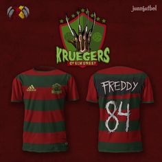 I know nothing about soccer. But these are awesome. What if there was an entire soccer league made up of teams inspired by popular horror movies and televi
