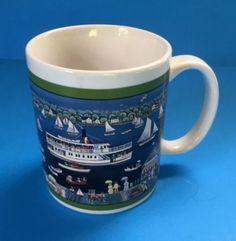 Mystic Seaport Coffee Mug Cup Connecticut Museum History Nautical Boats Coastal