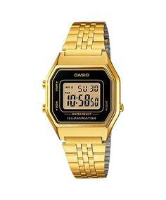 e38c2e6ac6e Details about Vintage Casio LA680WGA-1 Ladies Gold Digital Womens Watch NEW  LA680