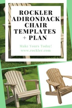 Build an Adirondack chair easily with Rockler's Pre-cut full-size cardboard template. What's even better is that you can keep using this template over and over again making it even more valuable!