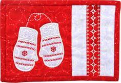 red mittens mug rug craftsy