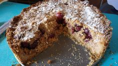 Cherry Crumble Cake - gluten free, vegan :D super delicious ~ #glutenfree #gluten #free #vegan #vegetarian #cake #delicious #food #healthy