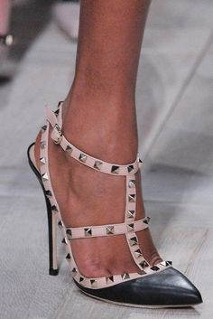 42c3b2f47 Valentino Studded T-Strap Pumps   Valentino Shoes