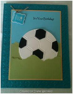 soccer ball using the honeycomb embossing folder