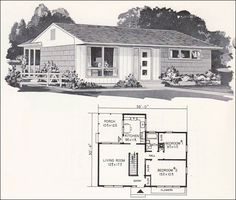 Mid Century Modern House Plans | Mid Century Modern Plan - Weyerhauser Design No. 4162 - Small House ...