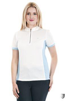 Sherwood Forest Edlingham - Polyester / Spandex - Half zip closure. 3 colours - white/blue, white/pink & white/white