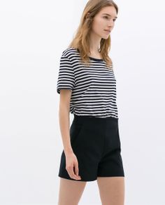 Image 2 of HIGH WAIST SHORTS from Zara