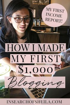 My first income report is finally here! Click to learn how I made my first $1,000 and how you can steal my strategies and start monetizing your blog today! | how to make money blogging | how to turn blog into business | blogging tips for beginners | business tips for bloggers | entrepreneur tips for bloggers