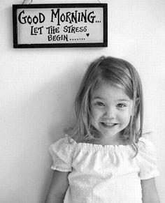 доброе утро, дети. ребенок и утро