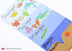 Learning About the Layers of the Ocean (Paint Sample Craft for Kids) - Sea Crafts, Fish Crafts, Ocean Activities, Preschool Activities, Kindergarten Science, Layers Of The Ocean, Fireworks Craft For Kids, Ocean Zones, Cupcake Liner Crafts