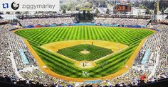 THINK BLUE: #Repost @ziggymarley  Give thanks to the LA @dodgers for having me out this Saturday to throw out the first pitch and perform music from the #newalbum. See you on the mound! #losangeles #weloveLA #dodgers #baseball #ZIGGYMARLEY #weekend by tuffgongworldwide