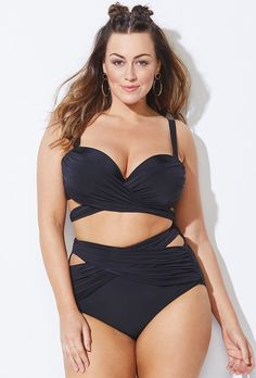7582fce6812a9 Buy GabiFresh x Swimsuits For All Roller Coaster Black Underwire Bikini at  SwimSuitsForAll.com.