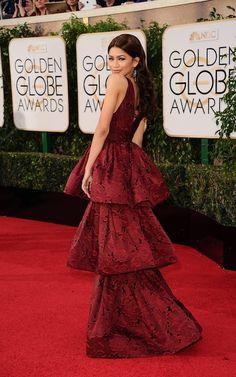 Zendaya in Marchesa at the Golden Globes