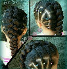 Dutch braid and elastics