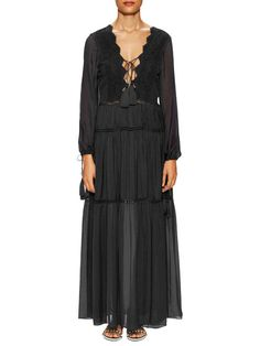 Lace Up Maxi Dress by 1st sight at Gilt