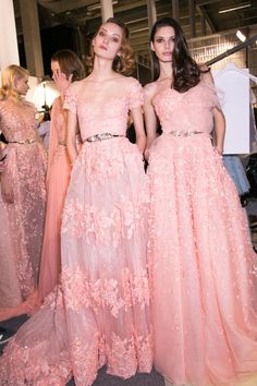 Zuhair Murad at Couture Spring 2015 (Backstage)