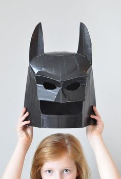 Turn cardboard and duct tape into your own DIY LEGO Batman Mask! The LEGO Batman Movie hits theaters 2/10