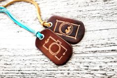 Camera Leather Keychain Gift  Photographer Gift  Small by Exsect
