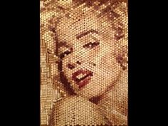 Marilyn Monroe Portrait Made of Wine Corks