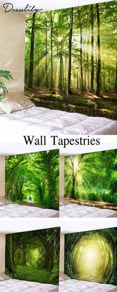 d8857d734c Forest Pattern Wall Tapestry Decoration.  dresslily  homedecor