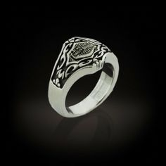 This is a Ladies Stainless Steel ring with a Gothic pattern that is sure to catch her eye.