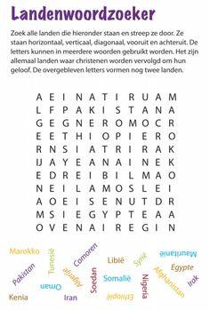 landen woordzoeker