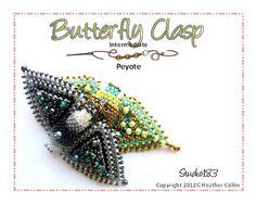 Peyote Stitch Snap on Clasp Beading Tutorial by Studio183 on Etsy, $10.00