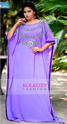 Mesmerizing Purple Kaftan Dress - One Size  Dubai Fashionable Caftan Abaya