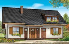 Projekt Fraszka to dom jednorodzinny dla rodziny 4-7 osobowej, z możliwością rozwoju i zmiennymi potrzebami lokalowymi. Dzięki dodatkowym pomieszczeniom na poddaszu i bliskości schodów od wejścia dom można z powodzeniem podzielić nawet na dwa niezależne mieszkania.
