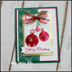 Christmas Cards 2018, Homemade Christmas Cards, Stampin Up Christmas, Christmas Bells, Xmas Cards, Homemade Cards, Handmade Christmas, Holiday Cards, Winter Christmas