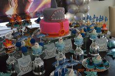 Sharkboy and Lavagirl 7th Birthday, Birthday Parties, 1 Year Old Meals, Sharkboy And Lavagirl, Ideas Para Fiestas, Party Cakes, First Birthdays, 4 Years, Christmas Decor