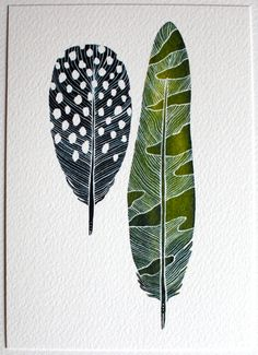 Featured in West Elm Feather Watercolor Painting by by RiverLuna
