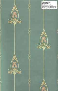 Love this sweet wallpaper, Nouveau Iris - the colors, the simple but elegant design