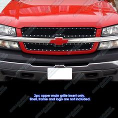 APS Compatible with Chevy Avalanche Silverado 1500 SS 2500 Rivet Stud Mesh Grille Grill 2005 Chevy Silverado, Silverado 1500, Chevy Silverado Accessories, Truck Accessories, Chevy 1500, Chevy Avalanche, Trimmer For Men, Bulbs For Sale, Chevy Trucks