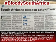 """This is South Africa under communist ANC rule!this country has a murder rate ten times worse than the United States"""" Black on White Genocide in South Africa South African News, Youth Unemployment, New Africa, Violent Crime, Recent News, Condolences, Sayings, Lettering, Life"""