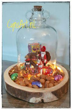 Sint & Piet - Playmobil - stolp - snoepgoed - LEDverlichting - www.cynsart.nl