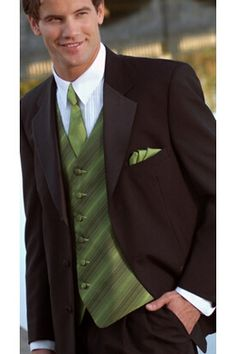 Tuxedo formalwear - embody the bold magnificence of city life with the black 3-button Calvin Michaels Embassy tuxedo.  Ideal with a Mystic Cypress vest and matching windsor tie at Tuxedo Junction.