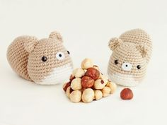 Free Amigurumi Squirrel Crochet Pattern : This is another kawaii inspired free amigurumi pattern. it's a