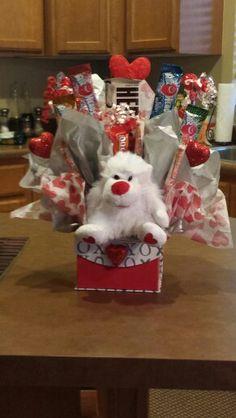 Valentine candy bouquet diy