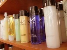nicolas hair products - great product line...light fragrances. you can wash your hands with water after using the styling products. not sticky or gummy...