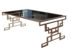 Modern coffee table with bold, geometric design that pays homage to the Art Deco by London's Tom Faulkner.
