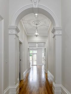 Period Extensions & Design has worked on exquisite period home renovation projects across Melbourne. If you are renovating, call us today. Home Improvement Loans, Home Improvement Projects, Style At Home, Victorian Hallway, Flur Design, Design Design, Lobby Design, Hallway Designs, Hallway Lighting