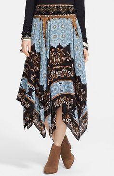 Sarah: Free People 'Fly Away' Print Handkerchief Skirt available at #Nordstrom