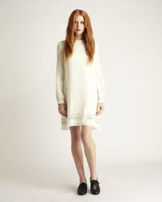 girl by band of outsiders beebe dress in antique lace
