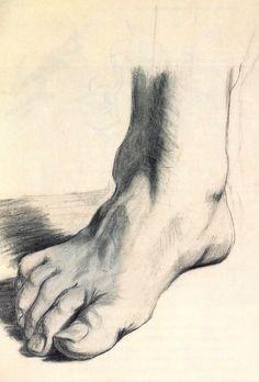 Salvador Dali, Study of a Foot, 1922