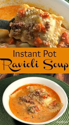 Man, I love it when a recipe happens to come together on the fly! I was needing something warm and hearty to take over to our neighbors& house for. Tortellini Pasta, Tortellini Recipes, Soup Recipes, Chili Recipes, Pizza Recipes, Free Recipes, Dinner Recipes, Frozen Ravioli Recipes, Ravioli Soup