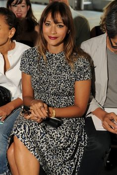 Rashida Jones Front Row at Proenza Schouler