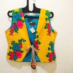 Floral printed cotton jacket