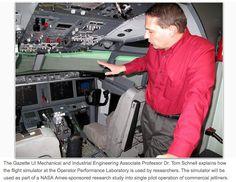 Cedar Rapids Gazette: Rockwell Collins, UI Studying Single-pilot Operation | College of Engineering | The University of Iowa